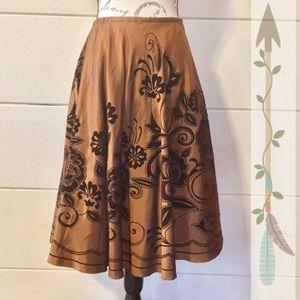 Coldwater Creek Velvet Flocked Skirt